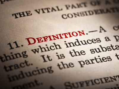 Dictionary definition of definition