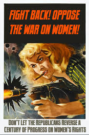 woman with gun.war on women